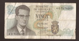 België Belgique Belgium 15 06 1964 20 Francs Atomium Baudouin. 4 C 7178267 - [ 6] Schatzamt