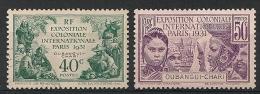 Oubangui. 1931. N° 84,85. Oblit. Et Neuf *