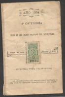 "7205-MARCHE FISCALI SU ""REGISTRO CIVIL DE LA PROVINCIA DE SANTA FE""-ARGENTINA-1904 - Argentina"