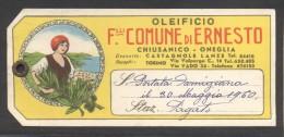 7206-CARTELLINO PUBBLICITARIO-OLEIFICIO-CHIUSANICO(ONEGLIA) - Publicidad