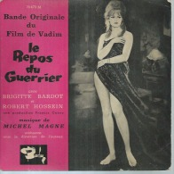 """45 Tours EP - Du Film """" LE REPOS DU GUERRIER """" ( BRIGITTE BARDOT / ROBERT HOSSEIN) - Soundtracks, Film Music"""