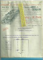 70 - Haute-saône - VAIVRE - Facture BABEY & FUCHS - Distillerie - Spécialité D'AMER Et QUINQUINA – 1904 - France