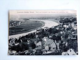 Carte Postale Ancienne : LOSCHWITZ WEISSER HIRSCH : Blick Vom Luisenhof..., 1912 - Dresden