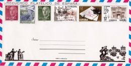 SPANIEN 1981 - 6 Fach Frankierung ** Auf Schmuckbrief - 1981-90 Briefe U. Dokumente