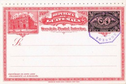 GUATEMALA 1897 - 2 Ganzsachen Mit Je 3 Centavos Mit Stempel - Guatemala