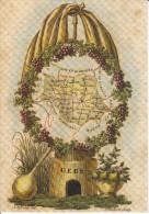 CPM DEPARTEMENT CONTOUR GEOGRAPHIQUE GERS 32  REPRO CARTE 1810 LITHO - Maps
