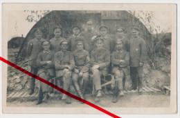 Original Foto - Vailly-sur-Aisne 1916 - Unteroffiziere Der 2. Maschinengewehrkompanie Inf.-Regt. 133 Bei Vailly - Soissons