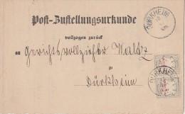 Bayern Post-Zustellungsurkunde Mef Minr.2x P12 Dürkheim 15.10.89 - Bayern