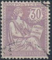 FRANCE 128 (o) Mouchon Retouché Cachet 1902 (CV 20 €) 5 - 1900-02 Mouchon