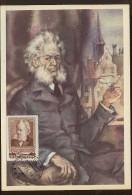 CARTE MAXIMUM CM Card USSR RUSSIA Literature Poet Playwright Henrik Johan Ibsen Writer Norway Norge - Cartes Maximum