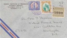 GUATEMALA 1940 - Seltene 3 Fach Frankierung Auf LP-Brief Nach Washington - Guatemala