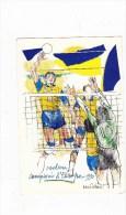 C-3477 - CARTOLINA GRUPPO SPORTIVO PANINI-PHILIPS - CAMPIONI D'EUROPA 1990 - Volleyball