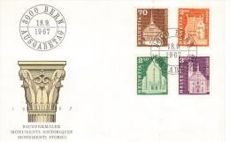 1967 SVIZZERA, SCHWEIZ, SUISSE, SWITZERLAND -  FDC MONUMENTI STORICI - - FDC