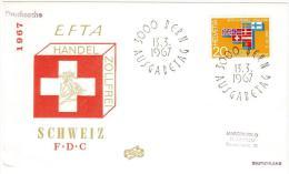 1967 SVIZZERA, SCHWEIZ, SUISSE, SWITZERLAND -  FDC EFTA - - FDC
