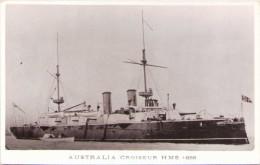 """""""AUSTRALIA"""" - Croiseur HMS 1888 - Carte-photo - Guerra"""