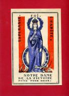 IMAGE PIEUSE PATRIOTIQUE 1940 NOTRE DAME DE LA VICTOIRE ESPERANCE FOI DESSIN DE GABRIEL LOIRE VERRIER A CHARTRES VITRAIL - Documents
