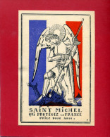 IMAGE PIEUSE PATRIOTIQUE 1940 SAINT MICHEL DESSIN DE GABRIEL LOIRE VERRIER A CHARTRES VITRAIL - Documents