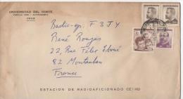 Enveloppe Timbrée UNIVERSIDAD DEL NORTE CHILI - Estacion De Radioaficionado CE1HU - Chili