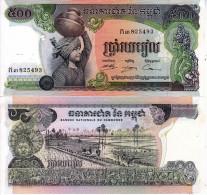 CAMBOGIA CAMBODIA KAMPUCHEA BANCONOTA 500 RIELS 1973 - Cambodia