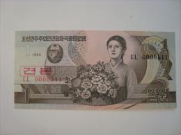Corée Du Nord - Billet 1 Won Specimen 1992 - CL 511 - Neuf - UNC - P39s - Corée Du Nord