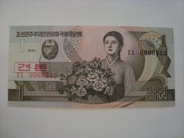 Corée Du Nord - Billet 1 Won Specimen 1992 - CL 512 - Neuf - UNC - P39s - Corée Du Nord