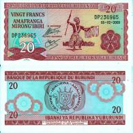 BURUNDI 20 FRANCHI 2005 AFRICA FDS UNC - Burundi