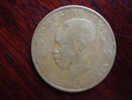TANZANIA 1966 TWENTY CENTS NYERERE Nickel-brass USED COIN.. - Tanzania