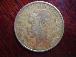 TANZANIA 1970 TWENTY CENTS NYERERE Nickel-brass USED COIN.. - Tanzanie