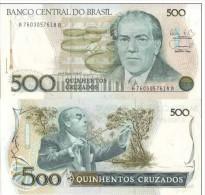 BRASILE BRASIL BRAZIL 500 CRUZADOS FDS UNC - Brésil