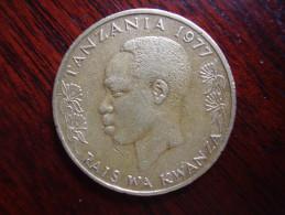 TANZANIA 1977 TWENTY CENTS NYERERE Nickel-brass USED COIN.. - Tanzania