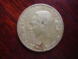 TANZANIA 1979 TWENTY CENTS NYERERE Nickel-brass USED COIN.. - Tanzania