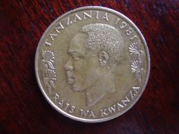 TANZANIA 1981 TWENTY CENTS NYERERE Nickel-brass USED COIN.. - Tanzanie