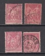 1877 - 1880   YVERT  Nº  98 - 1876-1898 Sage (Tipo II)