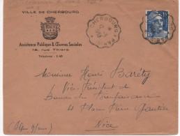 AMBULANT DE CHERBOURG A PARIS DU 12/5/53 - Poststempel (Briefe)
