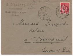 AMBULANT DE POITIERS A ANGERS DU 24/2/36 - Marcophilie (Lettres)