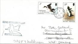 South Georgia 1989 King Edward Point Blue-eyed Coromant Macaroni Penguin Bird Cover - Zuid-Georgia
