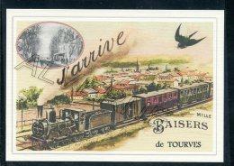 83   TOURVES   ....   .... Train Souvenir Au Fusain Creation Moderne Série Limitée Et Numerotée 1 à 10 ... N° 2/10 - France