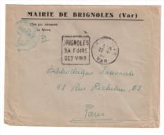 Cachet Daguin   Brignoles Var Sa Foire Des Vins        Franchise - 1921-1960: Periodo Moderno