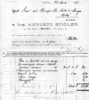 1899 MILANO - ING. AUGUSTO STIGLER - Italia