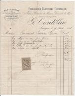 Langon Facture 1898 - France