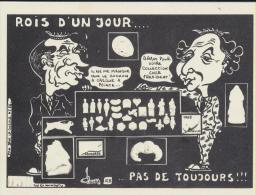 Jacques Lardie Tirage Limitée 100 Exemplaires N°56 Mitterand Et Fabius - Illustratori & Fotografie
