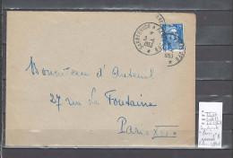 Lettre Cachet  Ambulant   Sarrebruck à Paris 2eme B - Indice 11 - Postmark Collection (Covers)