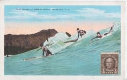 Waikiki Beach-  ( Writting From Miss Jane Faliu, Collector Cards Of World) * Voir Descripition - Honolulu
