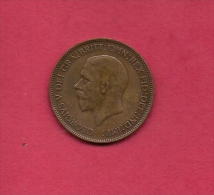 UK, Circulated Coin VF, 1931, 1 Penny, George V, Bronze, KM810,  C1988 - 1902-1971 : Post-Victorian Coins