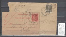 Lettre Cachet  Ambulant   Sarrebourg à Metz Et Retour  -Alsace - Indice 7 - Postmark Collection (Covers)