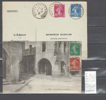 Lettre Cachet  Ambulant  Metz à Sarrebruck - à Sarrebourg   -Alsace -L - Indice 7 Et 8 - Postmark Collection (Covers)