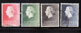 Netherlands 1954-57 Queen Juliana 4v Used - Period 1949-1980 (Juliana)