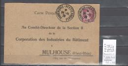Lettre Cachet  Ambulant   Dannemarie à Pfetterhouse -Alsace -L - Indice 8 - Postmark Collection (Covers)