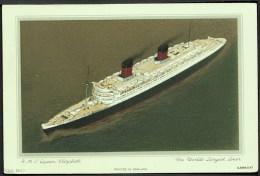 """R M S Queen Elizabeth"",  C1950. - Piroscafi"