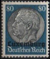 LUXEMBURG Occupation Allemande 1940 Poste 15 ** MNH III REICH Maréchal Feldmarschall HINDENBURG (CV 8 €) - Besetzungen